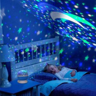 Projektor nočnej oblohy s lampou