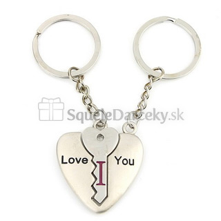 Prívesok kľúč a srdce