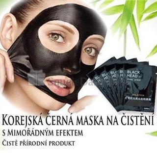 Kórejská prírodná čierna maska na čistenie pórov (10 kusov)