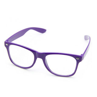 Štýlové okuliare s čírymi sklami Geek (rôzne farby)
