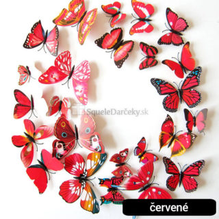 3D Motýle nálepky na stenu (12 kusov v balení) – rôzne varianty