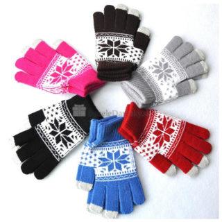 Rukavice pre dotykový displej so vzorom (rôzne farby)