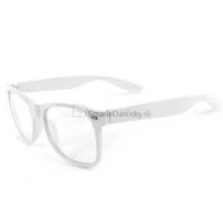 Štýlové okuliare s čírymi sklami Geek