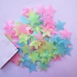 Fosforeskujúce svietiace hviezdičky na stenu alebo strop (100 ks v balení)