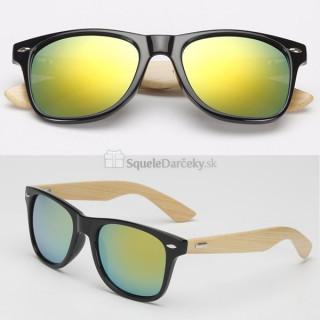 Slnečné okuliare Geek Woodrow – zlaté sklá
