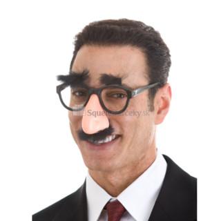 Okuliare s nosom, fúzmi a obočím
