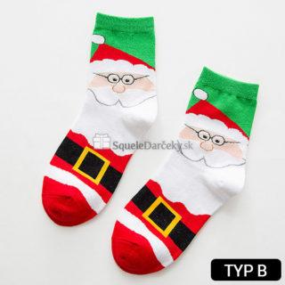 Zateplené dámske ponožky s vianočným motívom (rôzne druhy)