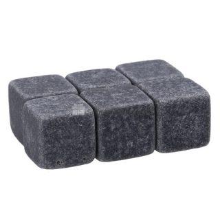 Chladiace kamene – Whiskey Stones (6 kusov) – čierna žula