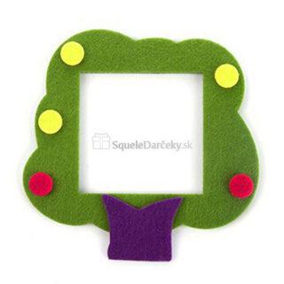 Detský filcový rámček na fotografie alebo vypínač – stromček
