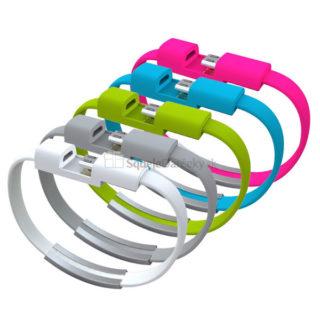 Nabíjací a dátový Micro USB – Náramok na ruku (rôzne farby)