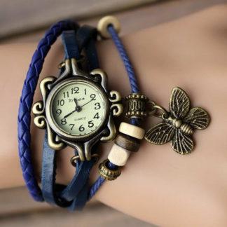 Náramkové hodinky Retro Butterfly Blue