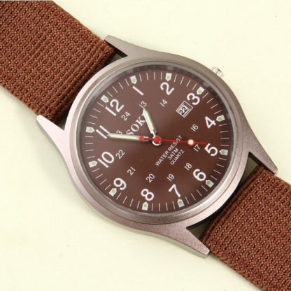 Náramkové hodinky Soki Military Brown
