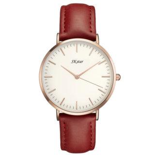 Náramkové hodinky SKstar Exclusive Dark Red