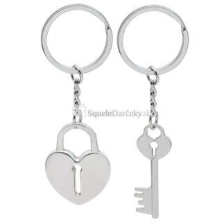 Prívesok kľúč a srdce v tvare zámku (1 pár)