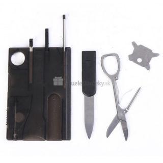 Multifunkčný nožík v tvare kreditnej karty (9 nástrojov)