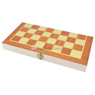 Drevený šach 34 x 34 cm