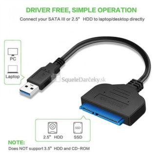 USB 3.0 – SATA 3 adaptér s káblom pre 2,5″ HDD